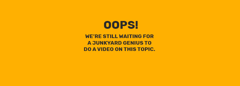 ¡Ups! Todavía estamos esperando a que un genio del depósito de chatarra haga un video sobre este tema.